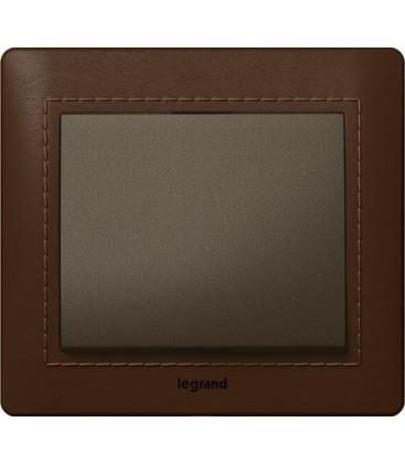 Выключатель Legrand серия Galea Life, Leather Club/темная бронза