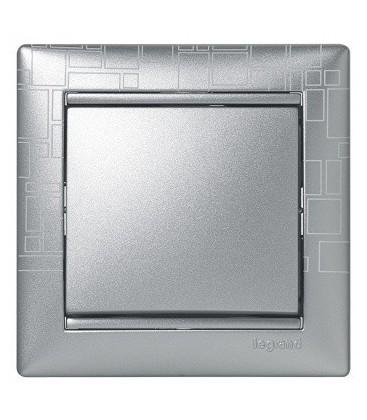 Выключатель Legrand серия Valena, алюминий модерн