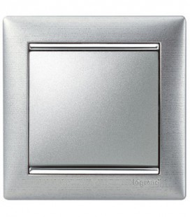 Выключатель Legrand серия Valena, матовый алюминий