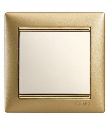 Выключатель Legrand серия Valena, матовое золото/белый