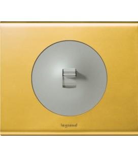 Выключатель с рычажком в сборе Legrand серия Celiane, золото/титан
