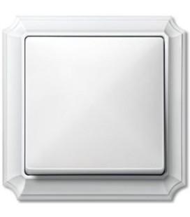 Выключатель Merten серия Antique, полярно-белый