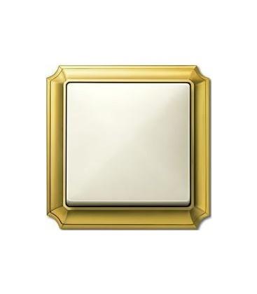 Выключатель Merten серия Antique, золото/бежевый