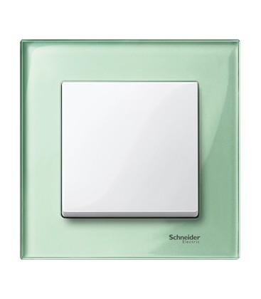 Выключатель Merten серия M-Elegance стекло, изумруд