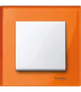 Выключатель Merten серия M-Elegance стекло, оранжевый кальцит