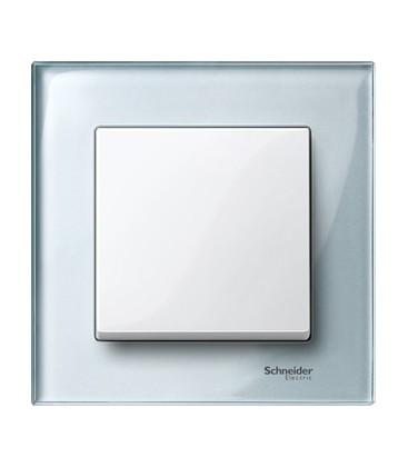 Выключатель Merten серия M-Elegance стекло, алмаз