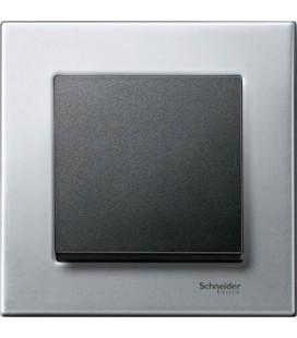 Выключатель Merten серия M-Elegance металл, платина-серебро/антрацит