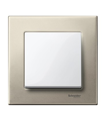 Выключатель Merten серия M-Elegance металл, титан/белый