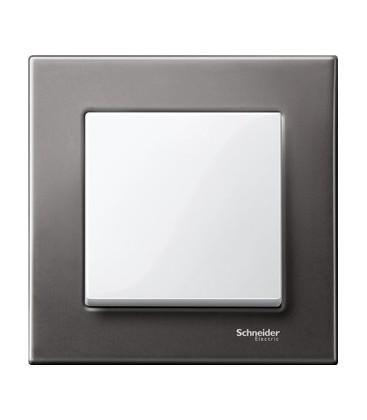 Выключатель Merten серия M-Elegance металл, серый родий/белый