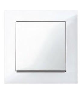 Выключатель Merten серия M-Pure, бриллиантовый белый