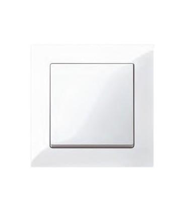 Выключатель Merten серия M-Pure, полярно-белый