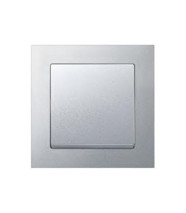 Выключатель Merten серия M-Pure, алюминий