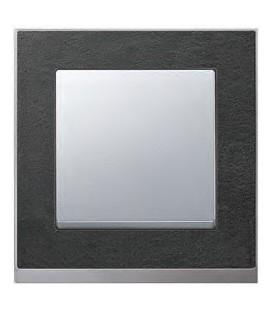 Выключатель Merten серия M-Pure Decor, сланец/алюминий