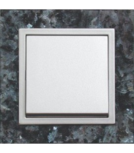 Выключатель PEHA серия Aura Stein, серый перламутр/белый