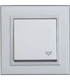 Выключатель PEHA серия Aura Basis, алюминий