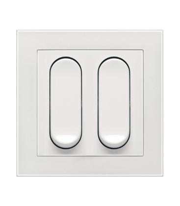 Двухклавишный выключатель PEHA серия Nova Tangenta, белый