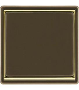Выключатель PEHA серия Dialog Exclusive, коричневый/золото