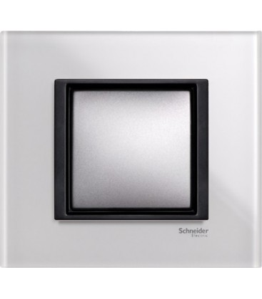 Выключатель Schneider Electric серия Unica Class, белое стекло