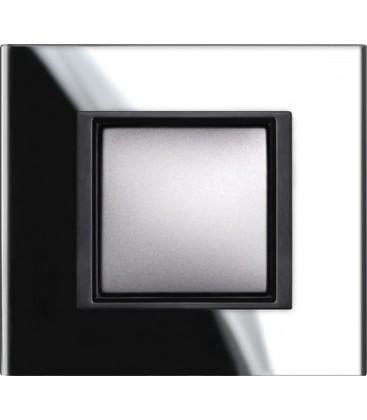 Выключатель Schneider Electric серия Unica Class, черное стекло