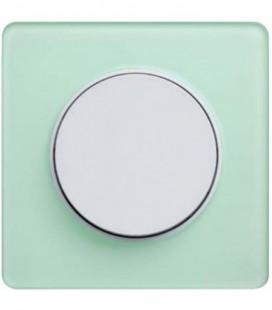 Выключатель Schneider Electric серия Odace, зеленый лед/белый