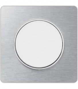 Выключатель Schneider Electric серия Odace, полированный Алюминий/белый