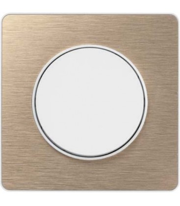 Выключатель Schneider Electric серия Odace, полированная бронза/белый