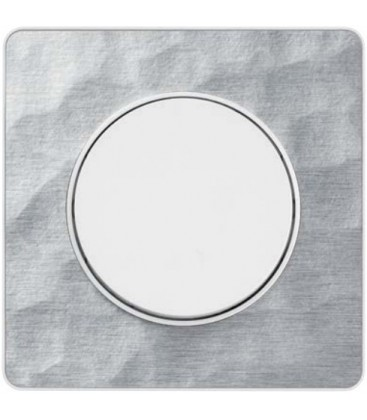 Выключатель Schneider Electric серия Odace, алюминий мартель/белый