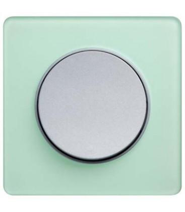 Выключатель Schneider Electric серия Odace, зеленый лед/алюминий