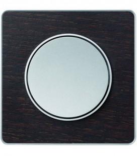 Выключатель Schneider Electric серия Odace, венге/алюминий