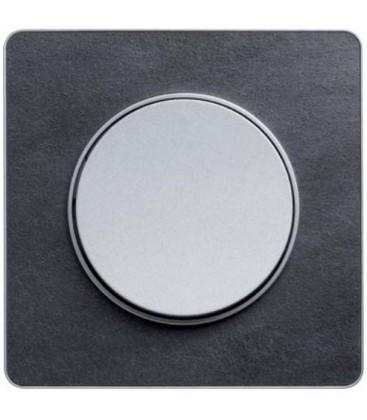 Выключатель Schneider Electric серия Odace, сланец/алюминий