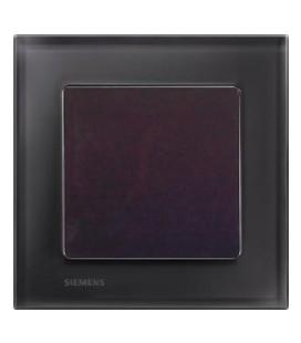 Выключатель Siemens серия Delta Miro, стекло Черный