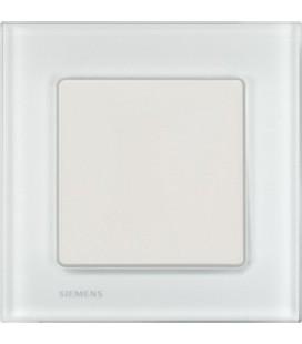 Выключатель Siemens серия Delta Miro, стекло Белый