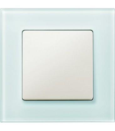 Выключатель Siemens серия Delta Miro, стекло Кристалльно зеленый