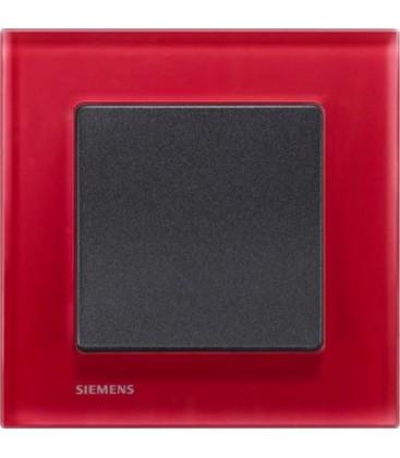 Выключатель Siemens серия Delta Miro, стекло Ориент/черный