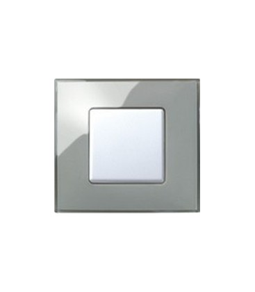 Выключатель Simon серия 27 Neos, дымчатое стекло