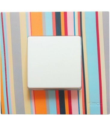 Выключатель Simon серия 27 Play, многоцветный поток