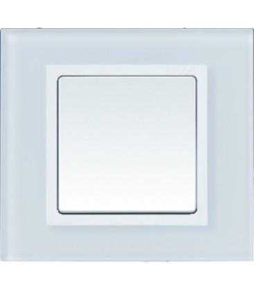 Выключатель Simon серия 82 Nature, белое стекло