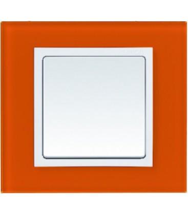 Выключатель Simon серия 82 Nature, оранжевый/белый