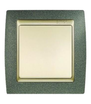 Выключатель Simon серия 82, зеленая текстура