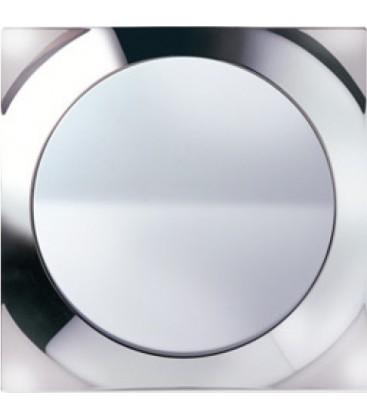 Выключатель SIMON серия 88, квадрат хром/белый