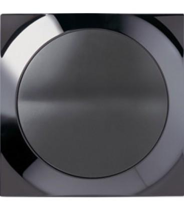 Выключатель SIMON серия 88, квадрат воронёная сталь/графит