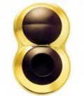 Розетка и выключатель SIMON серия 88, круг золото/коричневый