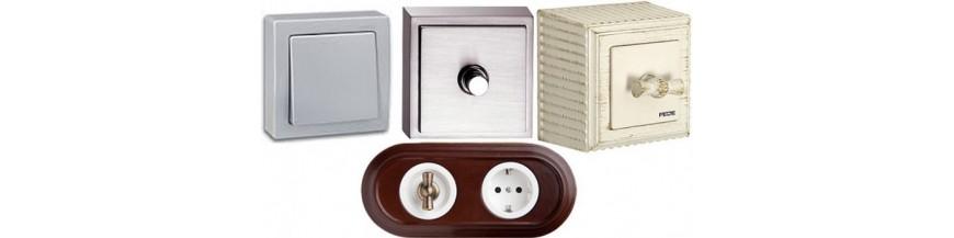Розетки и выключатели для открытой проводки